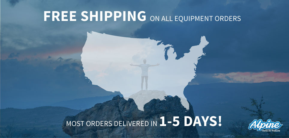 Free shipping on all equipment orders. Most orders delivered in 1 to 5 days!